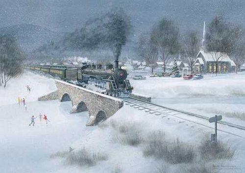 Christmas Train Around Tree